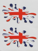 Union Jack Flag Splat Car 16v Motorsport Sticker/Decals