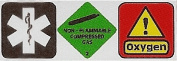 Medical Gas and Oxygen Carried - Car Sticker - DCS45 - INTERIOR