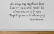 One Direction Wall Sticker Live While We're Young Quote 88 - Chorus. 90 cm wide Pink