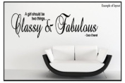 Coco Chanel - Classy and Fabulous Quote Lounge Living Room Hallway bedroom Dressing Room Wall Sticker Wall Art Vinyl Wall Decal Wall Mural - Regular Size