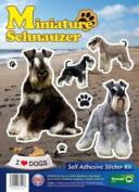 Dogs Self Adhesive Sticker Kit - Miniture Schnauzer