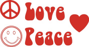 8 x Love and Peace Stickers
