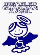 Disabled Guardian Angel - Car Sticker - DCS32 - INTERNAL