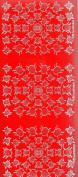 red craft peel offs,ladybirds, bugs, peel off stickers for crafts / card making etc