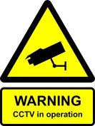 Site Safety Sign, Warning CCTV in operation 300x400mm