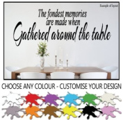 The fondest Memories are Made Gathered Around the Table Kitchen or Dining Room Quote Wall Sticker Wall Decal Wall Art Vinyl Wall Mural