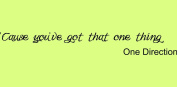 One direction wall sticker cause you've got that one thing decal bedroom wall art