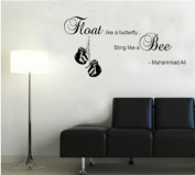 Muhammad ali Float like a butterfly ~ Wall Sticker Quote vinyl Decal Art Mural