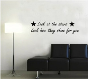 Look at the Stars Coldplay song lyrics quote Wall sticker Vinyl Decal Wall Art