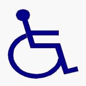 Wheelchair Logo - Car Sticker - DCS21 - INTERIOR