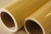 5 metre ROLL OF BEIGE / CREAM GLOSS FABLON TYPE STICKY BACK PLASTIC SELF ADHESIVE SIGN VINYL