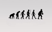Juko Rugby Evolution Wall Sticker Decal Small 57cm Wide. Black