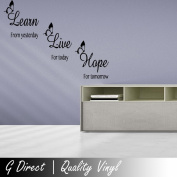 Learn Live Hope Inspirational Wall Sticker Quote Home Butterflies Bedroom Lounge