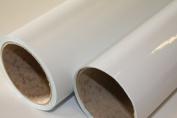 TEN metre ROLL OF WHITE GLOSS FABLON TYPE STICKY BACK PLASTIC SELF ADHESIVE SIGN VINYL