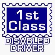 1st Class disabled driver - Car Sticker - DCS26 - INTERNAL