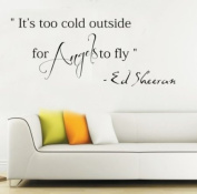 Ed Sheeran Its too cold outside for angels to fly Wall Sticker Bedroom Decal Art