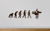 Juko Motocross Evolution Wall Sticker Decal Medium 90cm Wide. Orange