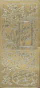 just for you, roses embellishments shiny gold colour 1 sheet peel offs , stickers