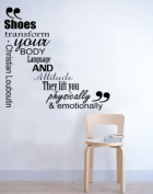 Shoes transform your body Wall Sticker Bedroom Vinyl Decal Mural Art