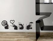 Banksy Rat Love Wall Sticker Decal