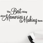 The Best Thing About Memories is Making Them Quote Wall Sticker Wall Decal Wall Art Vinyl Wall Mural