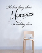The best thing about Memories Wall Sticker Quote