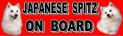 Car Sticker - JAPANESE SPITZ ON BOARD