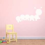 Caterpillar Dry Wipe Whiteboard Childrens Bedroom Playroom Wall Sticker