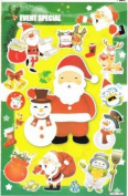 Christmas XMAS Decal Sticker Decal Sheet 27 cm x 18 cm NEW SWEET E89