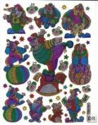 Clown Circus glittering Decal Sticker Decal Sheet 13,5 cm x 10 cm NEW SWEET E191