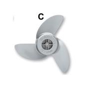 """MotorGuide Metal Machete III Blade Aluminum Weedless Prop 35"""""""