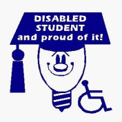 Disabled student and proud of it! - Car Sticker - DCS27 - INTERNAL