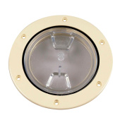 Beckson 10cm Clear Centre Screw-Out Deck Plate - Beige