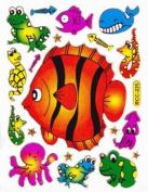 Fish Animal glittering Decal Sticker Decal Sheet 13,5 cm x 10 cm NEW SWEET