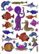 Fish Animal glittering Decal Sticker Decal Sheet 13,5 cm x 10 cm NEW SWEET E350