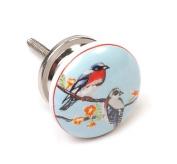 Birds Ceramic 38mm Cupboard Knob Cabinet Knob Kitchen Handle Drawer Pull