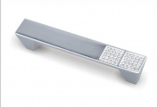 Unilocks Clear Glass Crystal Kitchen Cabinet Drawer Pulls Handles (C.C.:9.6cm L:12cm H