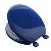 Carrara Matta ATLANTIC BS2 MARINE BLUE Coloured Plastic Toilet Seat and Cover with Adjustable Plastic Hinges