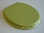ADOB mdf toilet seat green, brass chrom hinges