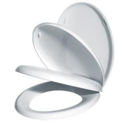 Gelco Design 702488 Toilet Seat Cover with Hidden Slow Close Mechanism White