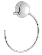 Croydex Twist 'N' Lock Towel Ring, Chrome