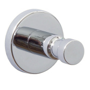 Nie Wieder Bohren Hoom HM400 Hand Towel Hook Solid Brass High-Gloss Chrome-Plated Incl. Special Attachment Technique