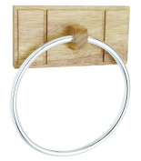 Croydex Maine Towel Ring, Light Wood