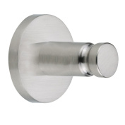 Nie wieder bohren (No More Drilling) Moon MO400 Hand Towel Hook 3.6 x 3.6 x 3.6 Chromed with Mounting Technology