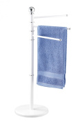 Exclusive Towel and Clothes Stand, white, height 90 cm
