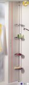 Ruco V720 Shower Corner Storage Unit with Telescopic Mounting Rods White