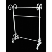 Shabby Chic TALL Free Standing TOWEL/ Display RAIL STAND in Cream