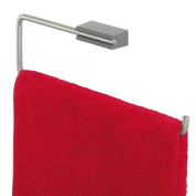 Tiger Cliqit 28643 Hand Towel Holder Brushed Stainless Steel with ABS Plastic Wall Mount Grey
