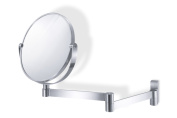 Zack 40109 18 cm Fresco Wall Mounted 1 Side Cosmetic Mirror with Enlargement By a Factor of 3