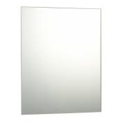 60 x 80cm Plain Frameless Bathroom Rectangle Mirror with Wall Fixings